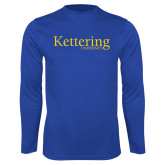 Performance Royal Longsleeve Shirt-Kettering University Word Mark