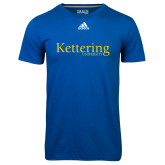 Adidas Climalite Royal Ultimate Performance Tee-Kettering University Word Mark