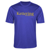 Performance Royal Heather Contender Tee-Kettering University Word Mark