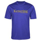 Performance Royal Heather Contender Tee-Kettering University Word Mark