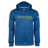 Under Armour Royal Performance Sweats Team Hoodie-Kettering University Word Mark