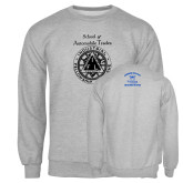 Grey Fleece Crew-School of Automobile Trades
