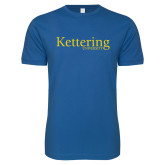 Next Level SoftStyle Royal T Shirt-Kettering University Word Mark