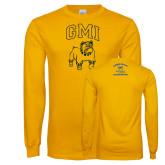 Gold Long Sleeve T Shirt-GMI