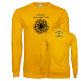 Gold Long Sleeve T Shirt-School of Automobile Trades