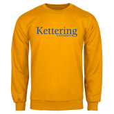 Gold Fleece Crew-Kettering University Word Mark