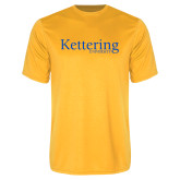 Performance Gold Tee-Kettering University Word Mark