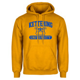 Gold Fleece Hoodie-Arched Kettering University in Bar