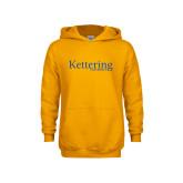 Youth Gold Fleece Hoodie-Kettering University Word Mark