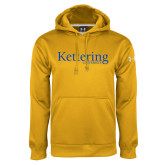 Under Armour Gold Performance Sweats Team Hoodie-Kettering University Word Mark