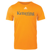 Adidas Gold Logo T Shirt-Kettering University Word Mark