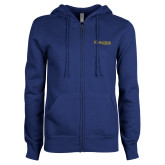 ENZA Ladies Royal Fleece Full Zip Hoodie-Kettering University Word Mark