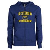 ENZA Ladies Royal Fleece Full Zip Hoodie-Arched Kettering University in Bar