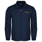Full Zip Navy Wind Jacket-Kettering University Word Mark