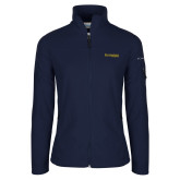 Columbia Ladies Full Zip Navy Fleece Jacket-Kettering University Word Mark