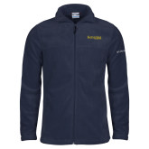 Columbia Full Zip Navy Fleece Jacket-Kettering University Word Mark