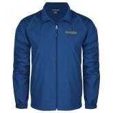 Full Zip Royal Wind Jacket-Kettering University Word Mark