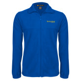 Fleece Full Zip Royal Jacket-Kettering University Word Mark