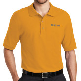 Gold Easycare Pique Polo-Kettering University Word Mark