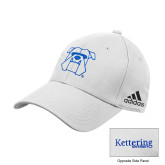 Adidas White Structured Adjustable Hat-Primary Mark Hats
