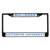 Metal License Plate Frame in Black-Bulldogs