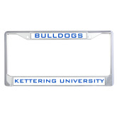 Metal License Plate Frame in Chrome-Bulldogs