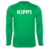 Performance Kelly Green Longsleeve Shirt-Primary Logo