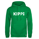 Russell DriPower Kelly Green Fleece Hoodie-Primary Logo