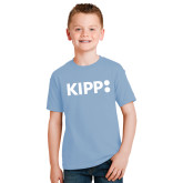 Youth Light Blue T Shirt-Primary Logo