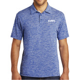 Royal Electric Heather Polo-Primary Logo