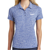 Ladies Royal Electric Heather Polo-Primary Logo