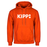 Orange Fleece Hoodie-Primary Logo