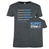 Ladies Dark Heather T Shirt-STEM2 Front