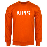 Orange Fleece Crew-Primary Logo