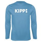 Performance Light Blue Longsleeve Shirt-Primary Logo