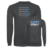 Charcoal Long Sleeve T Shirt-STEM2 Front