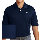 Nike Dri Fit Navy Pebble Texture Sport Shirt-Primary Logo