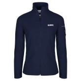 Columbia Ladies Full Zip Navy Fleece Jacket-Primary Logo