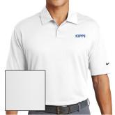 Nike Dri Fit White Pebble Texture Sport Shirt-Primary Logo