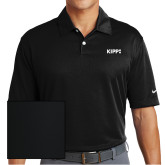 Nike Dri Fit Black Pebble Texture Sport Shirt-Primary Logo