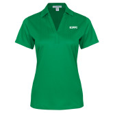Ladies Kelly Green Performance Fine Jacquard Polo-Primary Logo