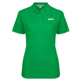 Ladies Easycare Kelly Green Pique Polo-Primary Logo