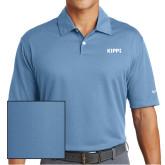Nike Dri Fit Light Blue Pebble Texture Sport Shirt-Primary Logo