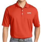 Nike Golf Dri Fit Orange Micro Pique Polo-Primary Logo