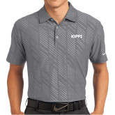 Nike Dri Fit Charcoal Embossed Polo-Primary Logo