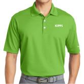 Nike Golf Dri Fit Vibrant Green Micro Pique Polo-Primary Logo