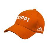 Adidas Orange Structured Adjustable Hat-Primary Logo