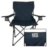 Deluxe Navy Captains Chair-KIPP Texas Stacked Logo