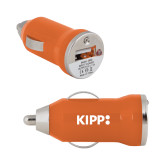 On the Go Orange Car Charger-Primary Logo