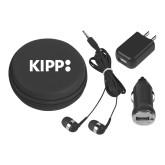 3 in 1 Black Audio Travel Kit-Primary Logo